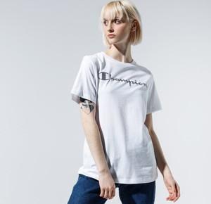T-shirt Champion w stylu casual z okrągłym dekoltem z krótkim rękawem