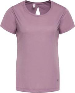 Różowy t-shirt Under Armour z okrągłym dekoltem