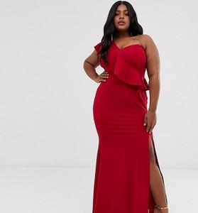 Czerwona sukienka Club L London Plus bez rękawów