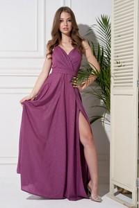 Fioletowa sukienka Ella Boutique na ramiączkach kopertowa