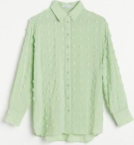 Zielona koszula Reserved w stylu casual