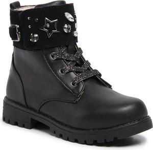 Czarne buty dziecięce zimowe Mayoral sznurowane