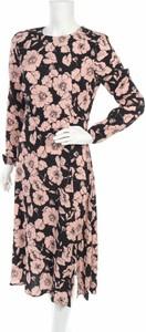 Sukienka Progetto midi z długim rękawem