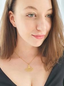 Venus Galeria Wisiorek srebrny - Wachlarz złoty