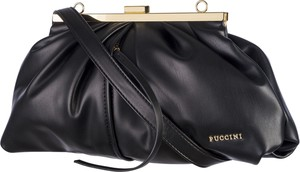 Czarna torebka PUCCINI matowa średnia na ramię