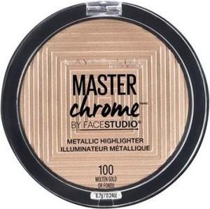 Maybelline Master Chrome Metallic Highlighter rozświetlacz do twarzy 100 Molten Gold 6,7g