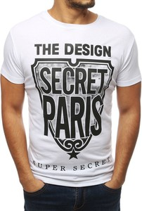 T-shirt Dstreet z krótkim rękawem z nadrukiem z tkaniny
