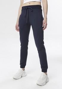 Granatowe spodnie born2be w sportowym stylu