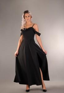 Sukienka Oscar Fashion rozkloszowana maxi