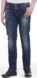 Granatowe jeansy M.sara z bawełny