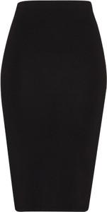 Czarna spódnica modstrÖm midi z dżerseju