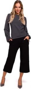Bluzka MOE z okrągłym dekoltem z długim rękawem w stylu casual