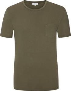 Zielony t-shirt Mey z bawełny