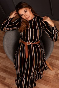 Sukienka Style mini z długim rękawem