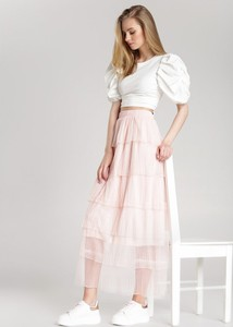 Różowa spódnica Renee midi