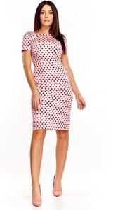 Sukienka omnido.pl mini z okrągłym dekoltem z krótkim rękawem