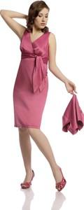 Sukienka Fokus bez rękawów z dekoltem w kształcie litery v z tkaniny