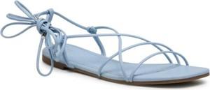 Niebieskie sandały Jenny Fairy z klamrami z płaską podeszwą