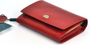 Czerwony portfel Wittchen ze skóry