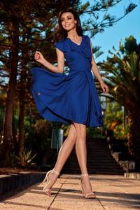 Niebieska sukienka Lemoniade wyszczuplająca z krótkim rękawem mini