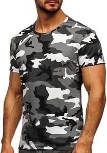 T-shirt Denley z krótkim rękawem w militarnym stylu