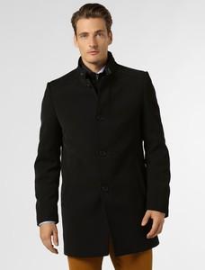 Czarny płaszcz męski Cinque z tkaniny
