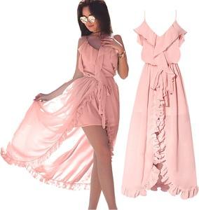 64698c7331 Miętowa sukienka Magmac z dekoltem w kształcie litery v