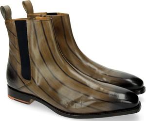 Brązowe buty zimowe Melvin & Hamilton ze skóry na zamek