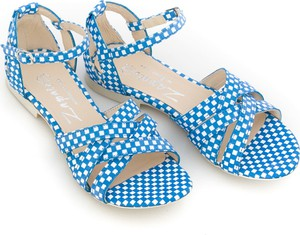 Niebieskie sandały Zapato ze skóry