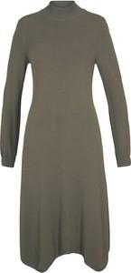 Sukienka bonprix z długim rękawem w stylu casual z golfem