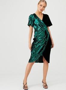 Sukienka V by Very z krótkim rękawem midi z dekoltem w kształcie litery v