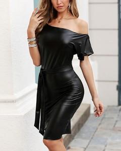 Sukienka Kendallme z krótkim rękawem bodycon mini