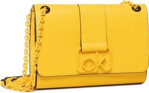 Żółta torebka Calvin Klein mała na ramię