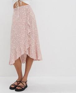 Różowa spódnica House w stylu casual