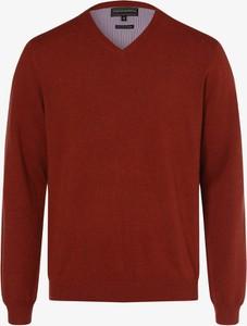 Pomarańczowy sweter Finshley & Harding z kaszmiru