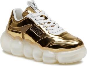 Złote buty sportowe Versace Jeans