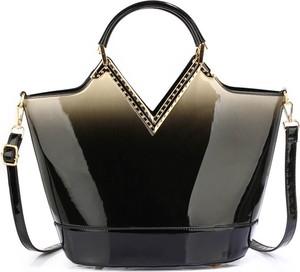 Czarna torebka Wielka Brytania duża w stylu glamour
