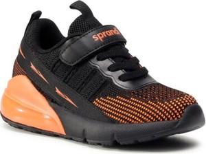 Czarne buty sportowe dziecięce Sprandi na rzepy