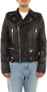 Czarna kurtka Imperial ze skóry krótka