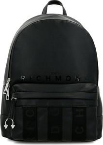 Czarna torba John Richmond ze skóry