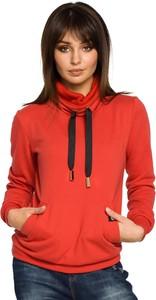 Czerwona bluza Merg w młodzieżowym stylu krótka