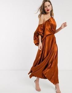 Sukienka Asos Edition maxi z długim rękawem