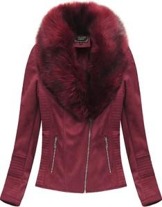 Czerwona kurtka Libland ze skóry ekologicznej