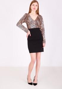1aa54064 hm sukienka z tygrysem - stylowo i modnie z Allani