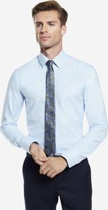 Miętowa koszula Wólczanka z długim rękawem