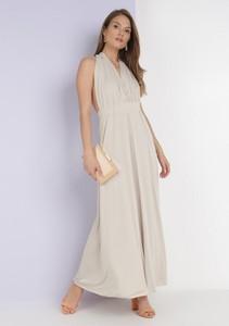 Sukienka born2be z dekoltem w kształcie litery v bez rękawów maxi