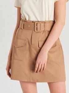 Brązowa spódnica Cropp mini w stylu casual