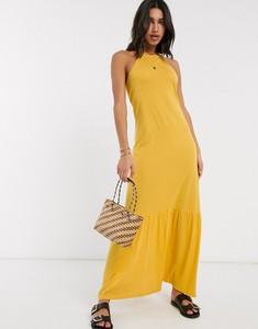 Żółta sukienka Asos maxi baskinka