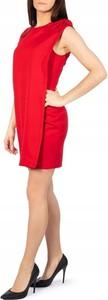 Czerwona sukienka Ted Baker mini z okrągłym dekoltem prosta
