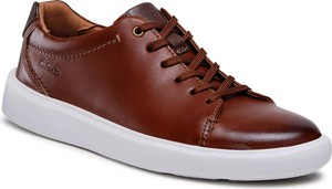 Sneakersy CLARKS - Cambro Low 261581257 Dark Tan Leather